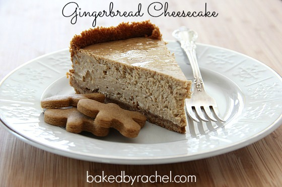Gingerbread Cheesecake Recipe from bakedbyrachel.com