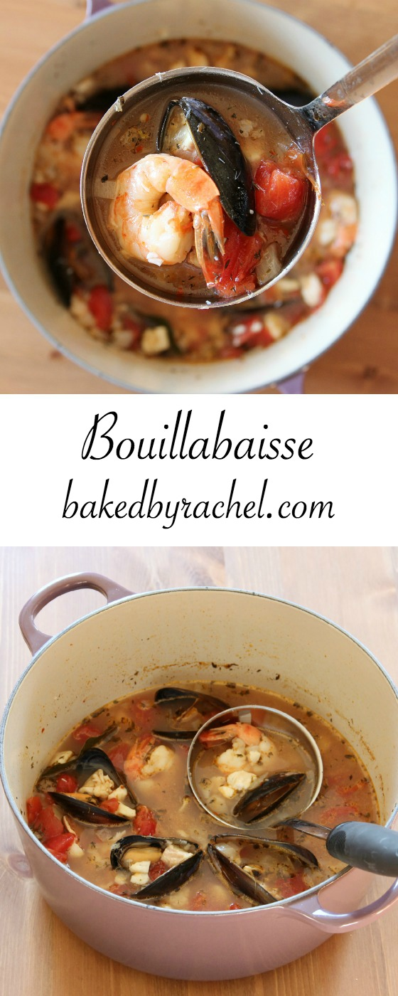 Quick and hearty bouillabaisse recipe from @bakedbyrachel
