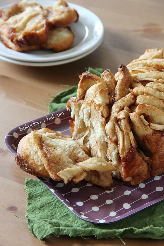 Apple Cinnamon Pull-Apart Bread Recipe from @bakedbyrachel