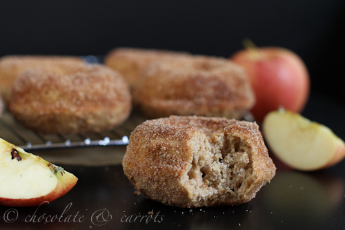 Whole Grain Apple Cinnamon Baked Donuts by Chocolate and Carrots - bakedbyrachel.com