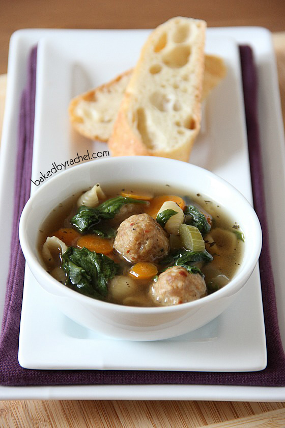 Slow Cooker Italian Wedding Soup Recipe from bakedbyrachel.com
