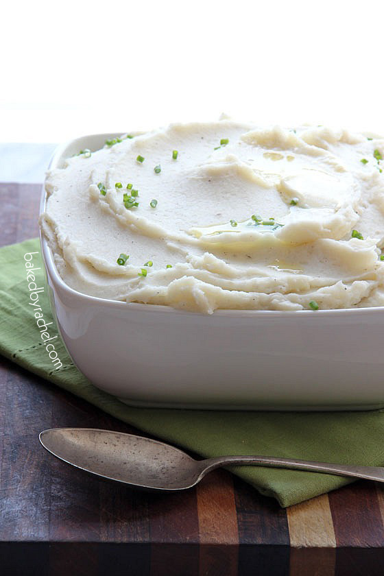 Slow Cooker Mashed Potato Recipe from bakedbyrachel.com