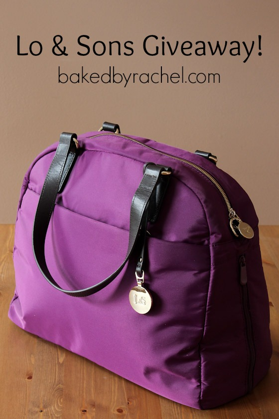 Lo and Sons OMG bag review and giveaway at bakedbyrachel.com