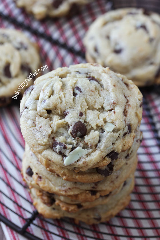 Mint Chocolate Chip Cookie Recipe from @bakedbyrachel