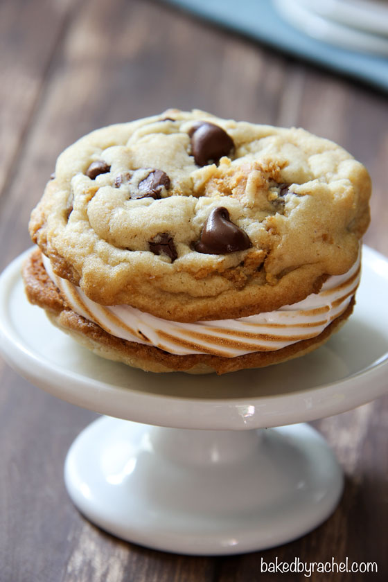 Chocolate Chip S'more Cookie Sandwiches from @bakedbyrachel
