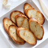 Grilled French bread recipe from @bakedbyrachel