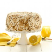 Moist homemade lemon meringue layer cake recipe from @bakedbyrachel
