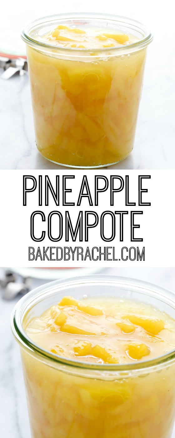 Easy pineapple compote recipe from @bakedbyrachel. A fun addition to your favorite dessert or breakfast!