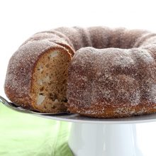 Moist apple cider donut bundt cake recipe from @bakedbyrachel A fun treat for Fall!