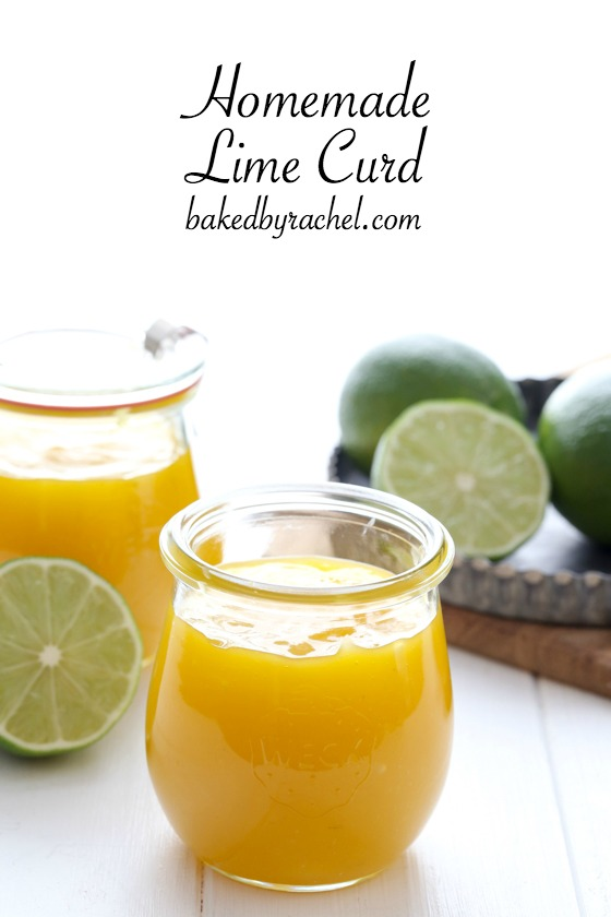 Easy homemade lime curd, ready in under 15 minutes! Recipe from @bakedbyrachel